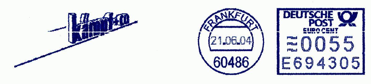 德国使用的必能宝Personal Post型邮资机戳欣赏(二十一)