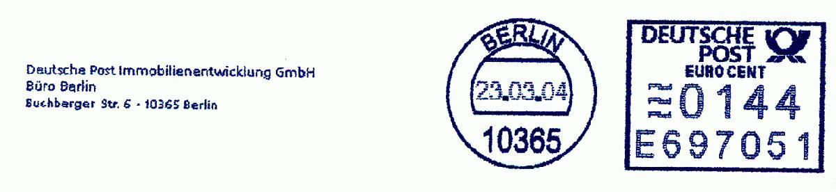 德国使用的必能宝Personal Post型邮资机戳欣赏(十三)