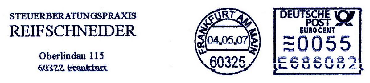 德国使用的必能宝Personal Post型邮资机戳欣赏(四)