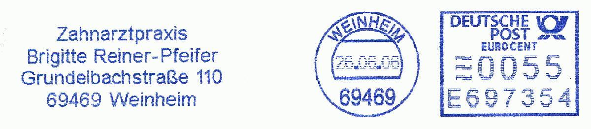 德国使用的必能宝Personal Post型邮资机戳欣赏(十二)