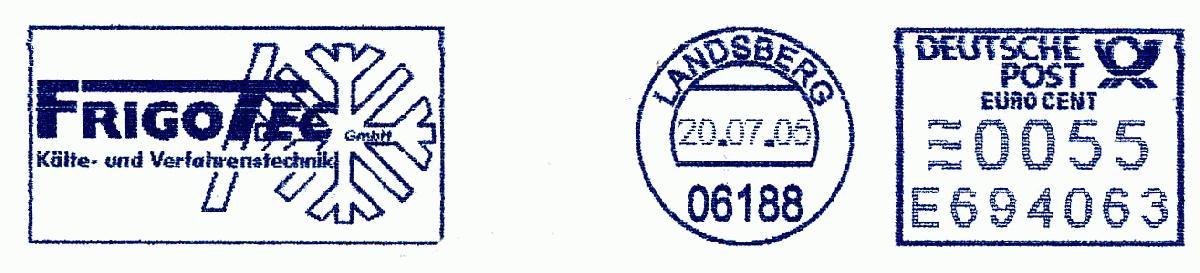 德国使用的必能宝Personal Post型邮资机戳欣赏(二十)