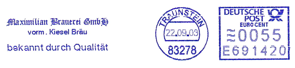 德国使用的必能宝Personal Post型邮资机戳欣赏(十八)