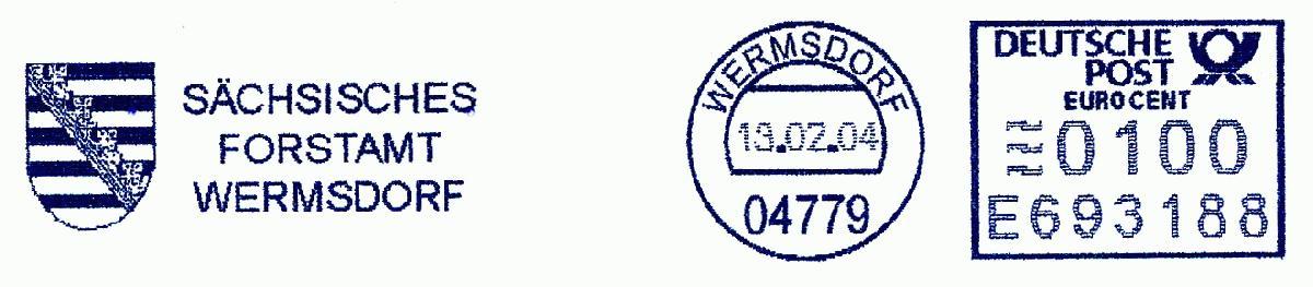 德国使用的必能宝Personal Post型邮资机戳欣赏(十六)