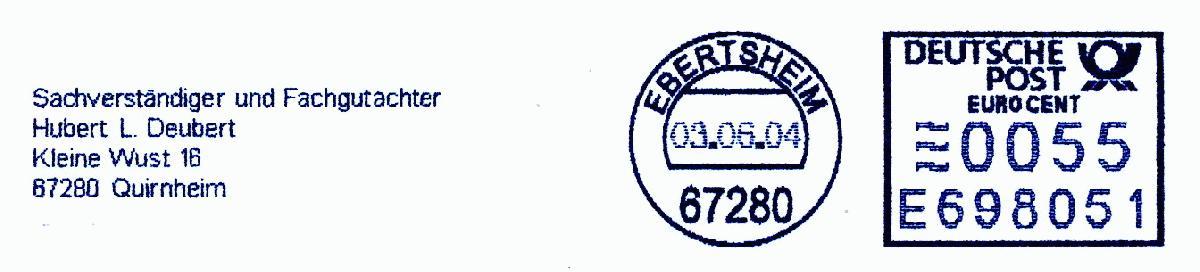 德国使用的必能宝Personal Post型邮资机戳欣赏(五)