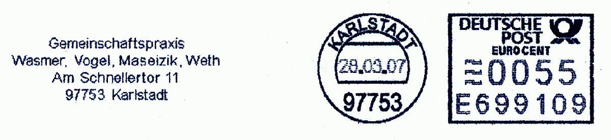 德国使用的必能宝Personal Post型邮资机戳欣赏(六)