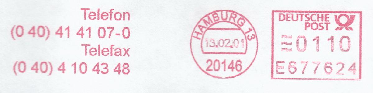 德国使用的必能宝Personal Post型邮资机戳欣赏(七)